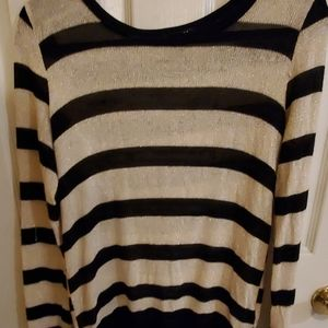 Black and gold stripe sweater